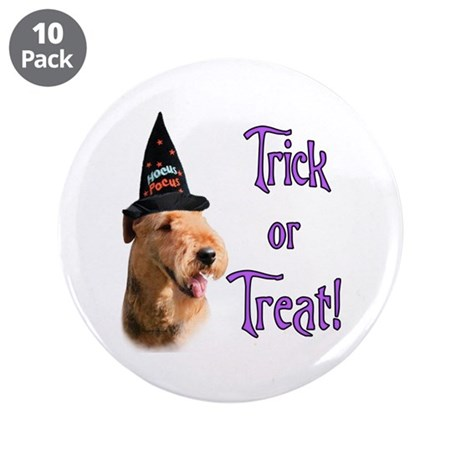 """Airedale Trick 3.5"""" Button (10 pack)"""