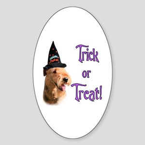 Airedale Trick Oval Sticker