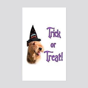 Airedale Trick Rectangle Sticker