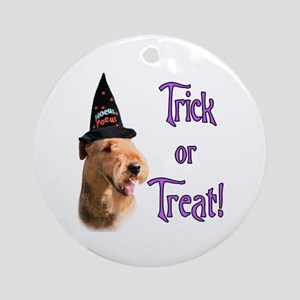 Airedale Trick Ornament (Round)