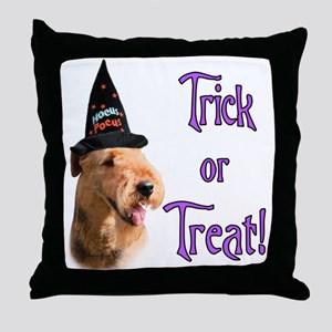 Airedale Trick Throw Pillow