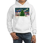 Xmas Magic & Skye Terrier Hooded Sweatshirt