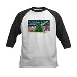 Xmas Magic & Skye Terrier Kids Baseball Jersey