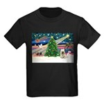 Xmas Magic & Skye Terrier Kids Dark T-Shirt