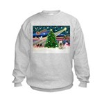 Xmas Magic & Skye Terrier Kids Sweatshirt