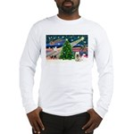 Xmas Magic & Skye Terrier Long Sleeve T-Shirt