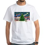 Xmas Magic & Skye Terrier White T-Shirt