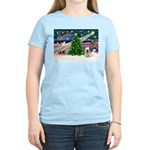Xmas Magic & Skye Terrier Women's Light T-Shirt