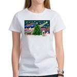Xmas Magic & Skye Terrier Women's T-Shirt