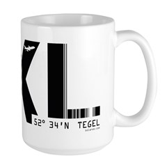 Berlin Tegel Airport Code Germany TXL Large Mug