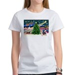 Xmas Magic & Silky Terrier Women's T-Shirt