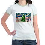 Xmas Magic & Silk Ter Jr. Ringer T-Shirt