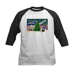 Xmas Magic & Silk Ter Kids Baseball Jersey