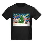 Xmas Magic & Silk Ter Kids Dark T-Shirt