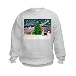 Xmas Magic & Silk Ter Kids Sweatshirt