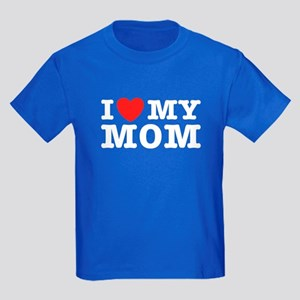 I Love My Mom Kids Dark T-Shirt