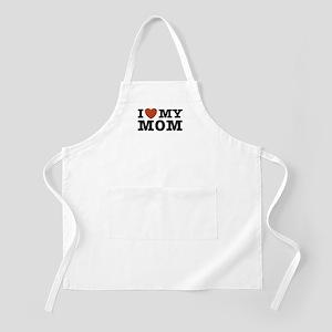 I Love My Mom BBQ Apron
