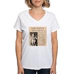 Tom Custer Women's V-Neck T-Shirt