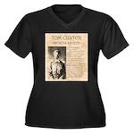 Tom Custer Women's Plus Size V-Neck Dark T-Shirt