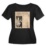 Tom Custer Women's Plus Size Scoop Neck Dark T-Shi