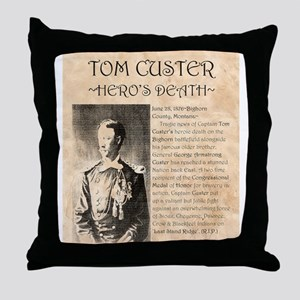 Tom Custer Throw Pillow