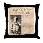 Tom Custer Throw Pillow