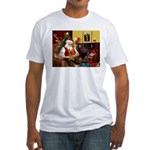 Santa's Silky Terrier Fitted T-Shirt