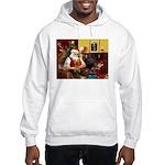 Santa's Silky Terrier Hooded Sweatshirt