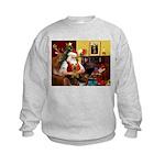 Santa's Silky Terrier Kids Sweatshirt