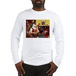 Santa's Silky Terrier Long Sleeve T-Shirt