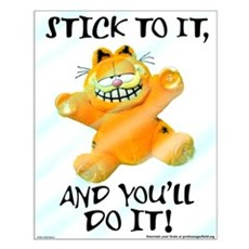 Stick to it Garfield Small Poster