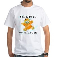 Stick to it Garfield White T-Shirt