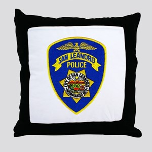 San Leandro Police Throw Pillow