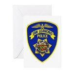 San Leandro Police Greeting Cards (Pk of 10)