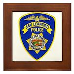 San Leandro Police Framed Tile