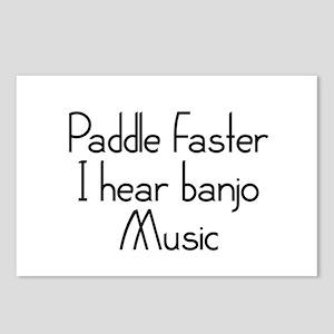 Paddle Faster I Hear Banjo Music Postcards (Packag