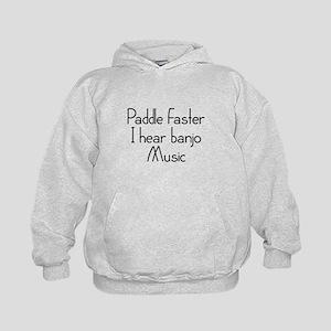 Paddle Faster I Hear Banjo Music Kids Hoodie
