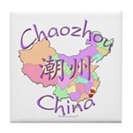 Chaozhou China Map Tile Coaster