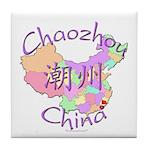 Chaozhou China Map Tile Coaster