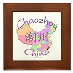 Chaozhou China Map Framed Tile