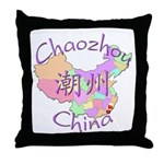 Chaozhou China Map Throw Pillow