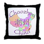 Chaozhou China Map Throw Pillow