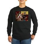Santa's Red Husky Long Sleeve Dark T-Shirt