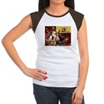 Santa's Red Husky Women's Cap Sleeve T-Shirt