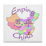 Enping China Map Tile Coaster