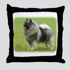 Keeshond 9J28D-01 Throw Pillow