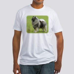 Keeshond 9J28D-01 Fitted T-Shirt