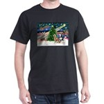 Xmas Magic & S Husky Dark T-Shirt