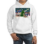 Xmas Magic & S Husky Hooded Sweatshirt