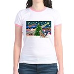 Xmas Magic & S Husky Jr. Ringer T-Shirt